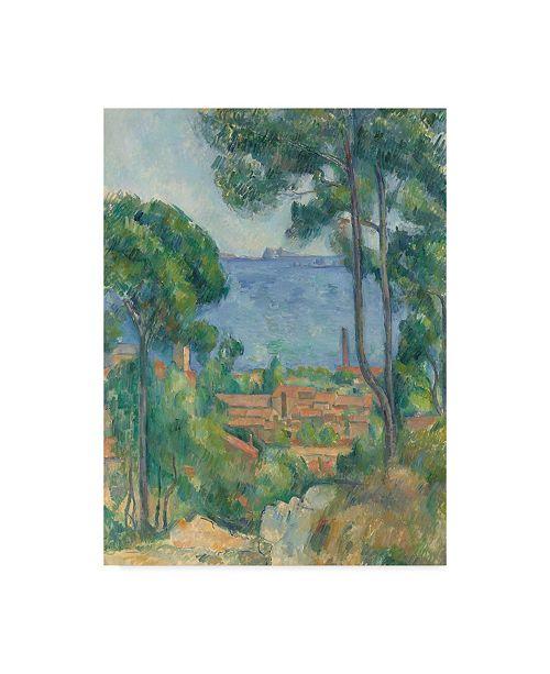 """Trademark Global Paul Cezanne 'Vue sur L'Estaque et le Chateau d'If' Canvas Art - 18"""" x 24"""""""
