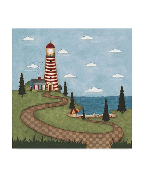"""Trademark Global Robin Betterley 'Red And White Lighthouse' Canvas Art - 18"""" x 18"""""""
