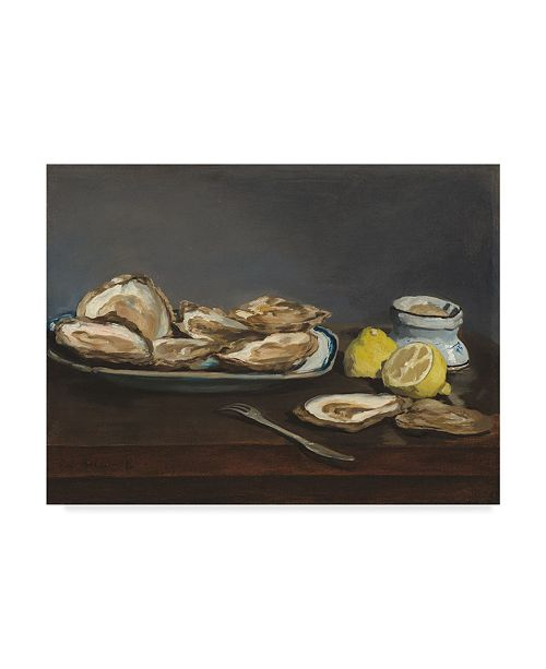 "Trademark Global Edouard Manet 'Oysters' Canvas Art - 24"" x 18"""