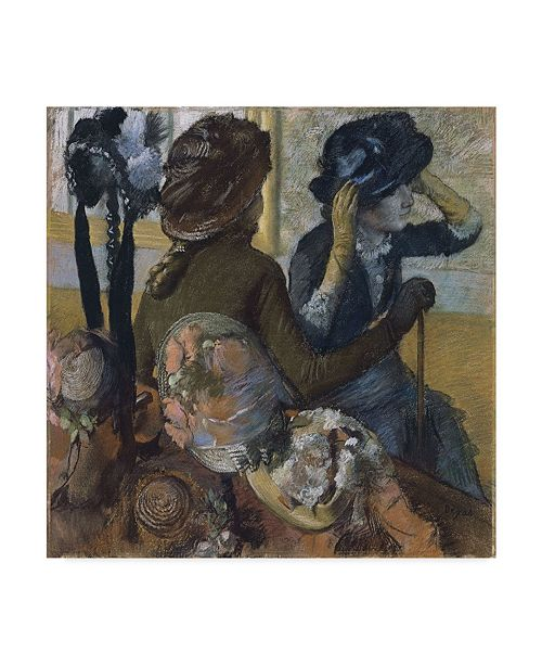 "Trademark Global Edgar Degas 'At The Milliners' Canvas Art - 14"" x 14"""