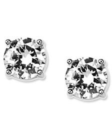 Earrings, Round Crystal Stud