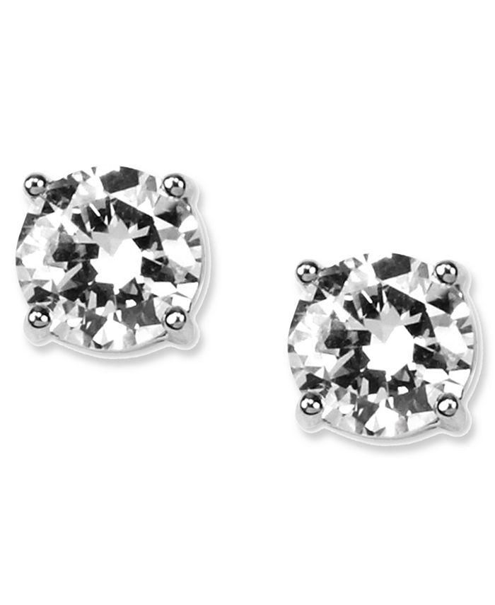Givenchy - Earrings, Round Crystal Stud