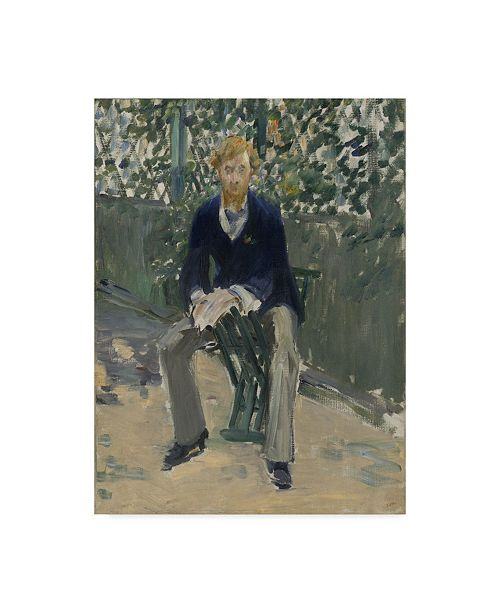 """Trademark Global Edouard Manet 'George Moore In The Artists Garden' Canvas Art - 19"""" x 14"""""""