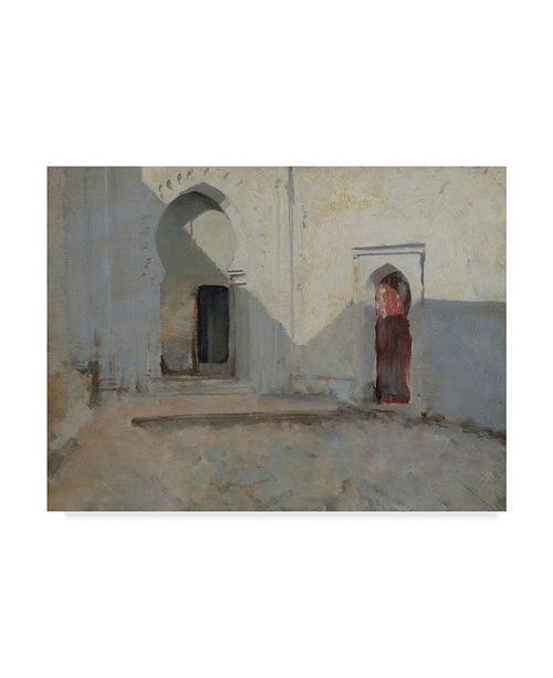 "Trademark Global John Singer Sargent 'Courtyard Tetuan Morocco' Canvas Art - 19"" x 14"""