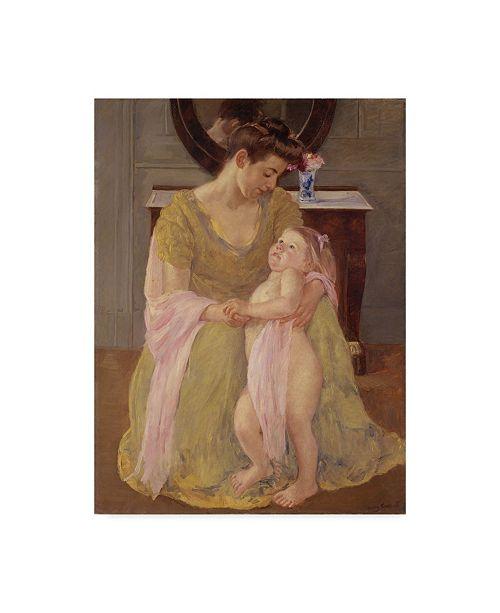 "Trademark Global Mary Stevenson Cassatt 'Rose Scarf' Canvas Art - 19"" x 14"""