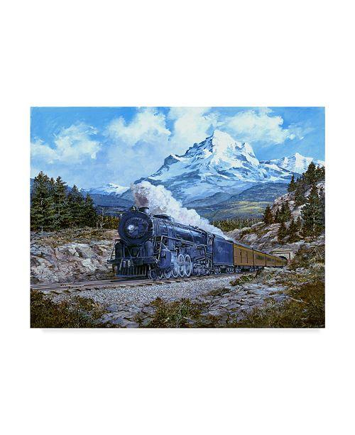 "Trademark Global Jack Wemp 'Locomotive 4' Canvas Art - 19"" x 14"""