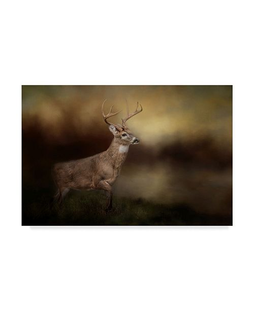 "Trademark Global Jai Johnson 'Streamside Buck' Canvas Art - 19"" x 12"""