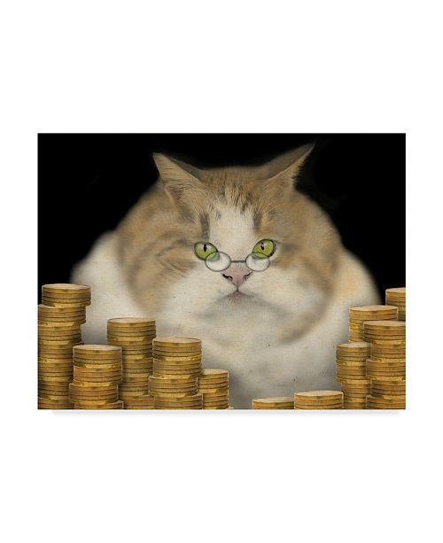 "Trademark Global J Hovenstine Studios 'Fat Cat' Canvas Art - 19"" x 14"""