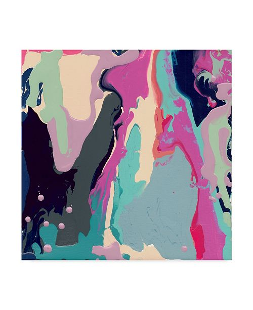 """Trademark Global Jennifer Mccully 'The Pour - Abstract' Canvas Art - 14"""" x 14"""""""