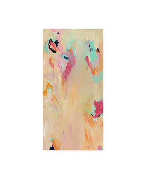 "Trademark Global Jennifer Mccully 'Tangerine Mist - Abstract' Canvas Art - 16"" x 32"""