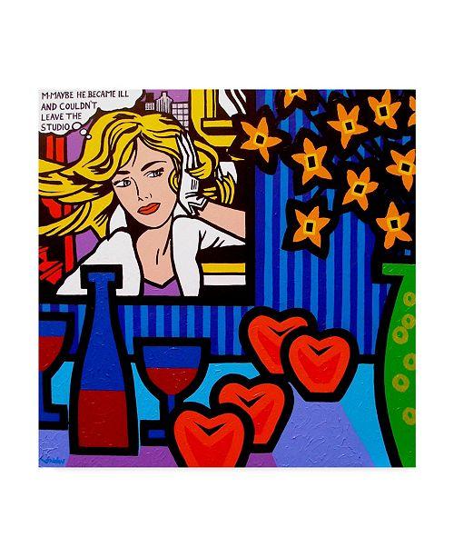"""Trademark Global John Nolan 'Still Life With Lichtenstein 2' Canvas Art - 14"""" x 14"""""""