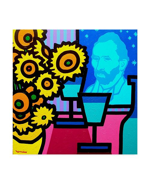 "Trademark Global John Nolan 'Still Life With Vincent' Canvas Art - 14"" x 14"""