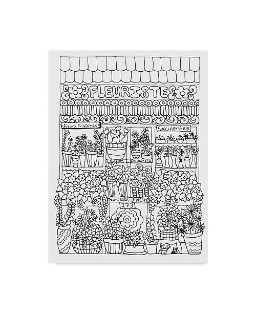 "Trademark Global Jessica Putnam 'Fleuriste' Canvas Art - 14"" x 19"""