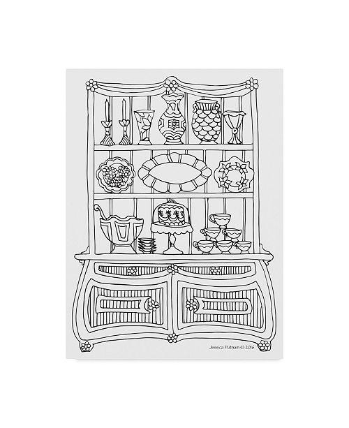 "Trademark Global Jessica Putnam 'China Cabinet 5' Canvas Art - 14"" x 19"""