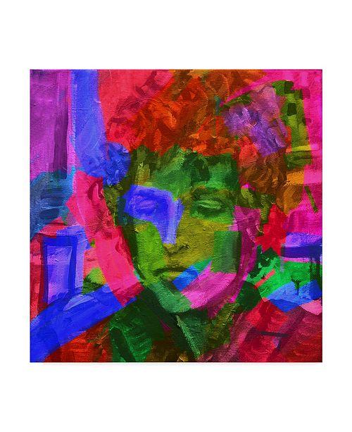 "Trademark Global Howie Green 'Bob Dylan' Canvas Art - 14"" x 14"""