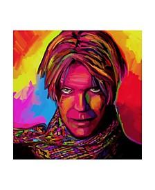 "Howie Green 'David Bowie' Canvas Art - 14"" x 14"""