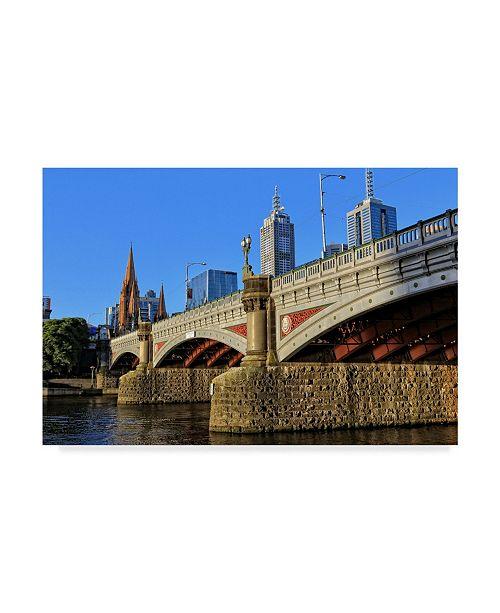 "Trademark Global Incredi 'City Bridge' Canvas Art - 19"" x 12"""
