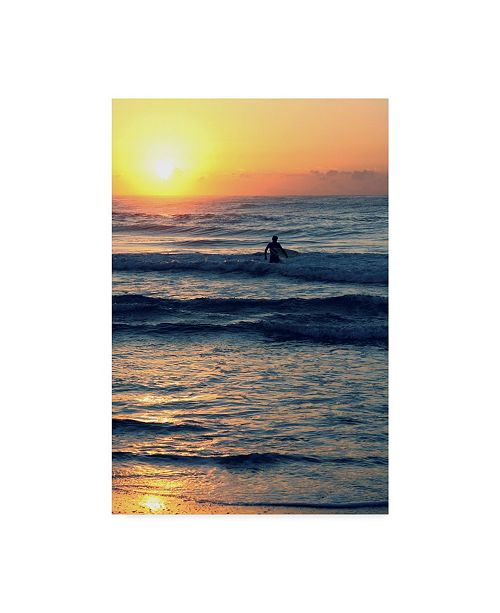 "Trademark Global Incredi 'Surf In The Morning' Canvas Art - 16"" x 24"""