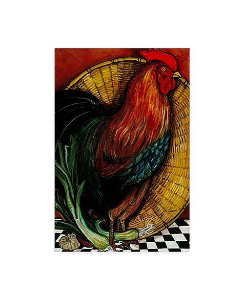 """Trademark Global Jan Panico 'A Rooster In The Kitchen' Canvas Art - 22"""" x 32"""""""