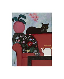 "Jan Panico 'Afternoon Tea Couch' Canvas Art - 18"" x 24"""