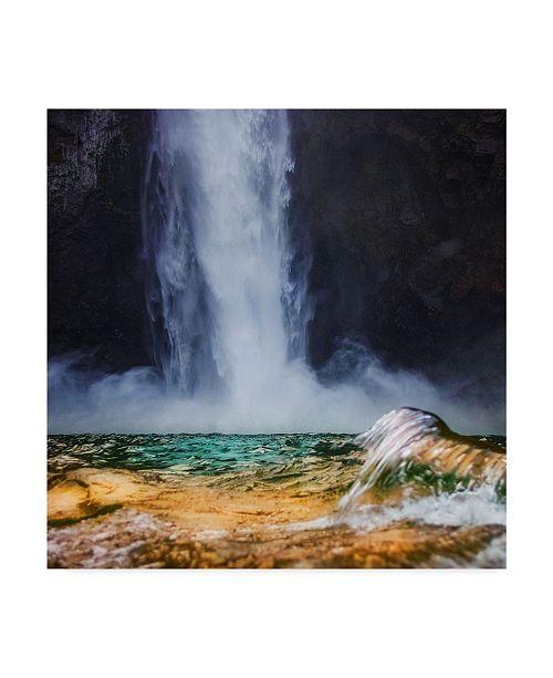 "Trademark Global Jason Matias 'Snoqualmie W Wave Square' Canvas Art - 14"" x 14"""