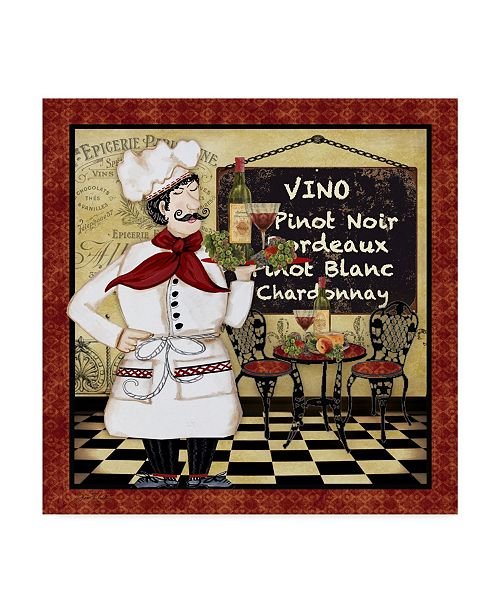 "Trademark Global Jean Plout 'Bistro Chef 5' Canvas Art - 14"" x 14"""