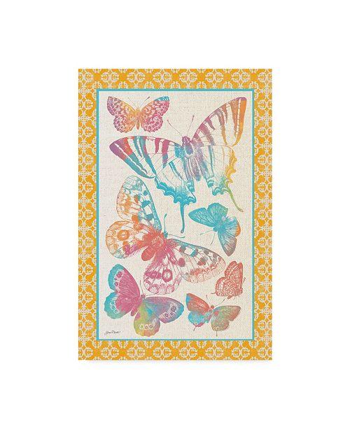 "Trademark Global Jean Plout 'Butterfly Frenzy 3' Canvas Art - 22"" x 32"""