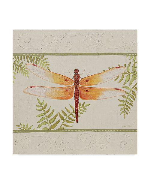 "Trademark Global Jean Plout 'Dragonfly Wonder 1' Canvas Art - 18"" x 18"""