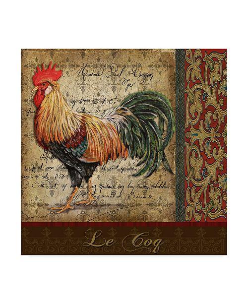 "Trademark Global Jean Plout 'Le Coq 9' Canvas Art - 18"" x 18"""