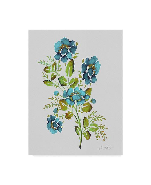 "Trademark Global Jean Plout 'Wild Rose Blue 2' Canvas Art - 14"" x 19"""