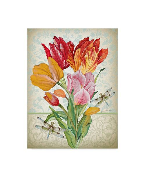 "Trademark Global Jean Plout 'Tulip Botanicals 2' Canvas Art - 18"" x 24"""