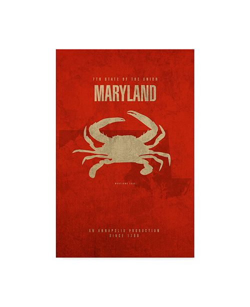 "Trademark Global Red Atlas Designs 'State Animal Maryland' Canvas Art - 22"" x 32"""