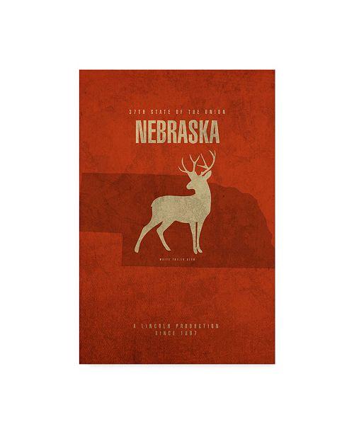 "Trademark Global Red Atlas Designs 'State Animal Nebraska' Canvas Art - 16"" x 24"""