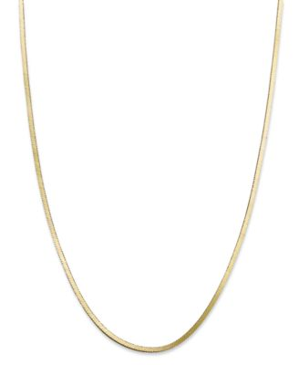 "18K Gold over Sterling Silver Necklace, 18"" Snake Chain Necklace"