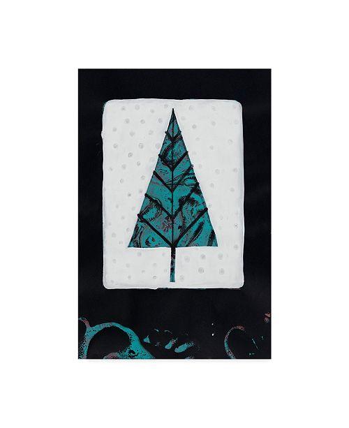 "Trademark Global Maria Pietri Lalor 'Blue Tree On White' Canvas Art - 22"" x 32"""