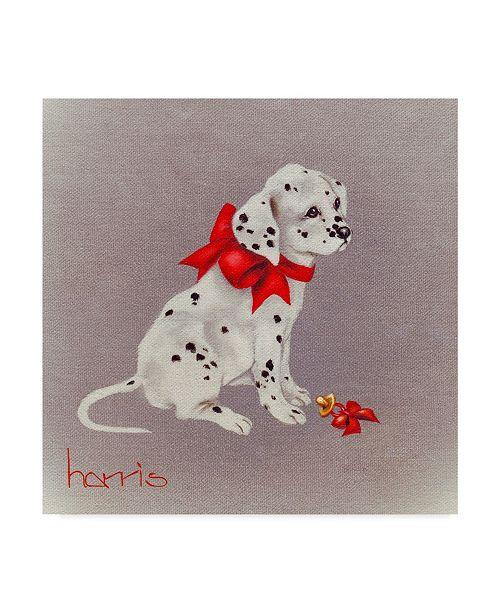 "Trademark Global Peggy Harris 'Dalmatian Pup' Canvas Art - 14"" x 14"""