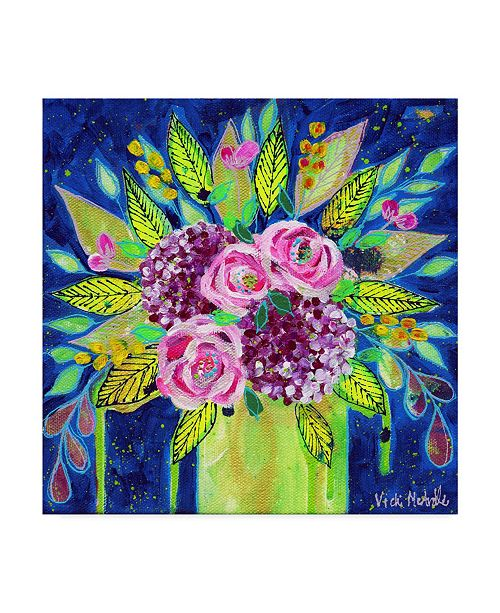 """Trademark Global Vicki Mcardle Art 'Consulting The Water' Canvas Art - 18"""" x 18"""""""