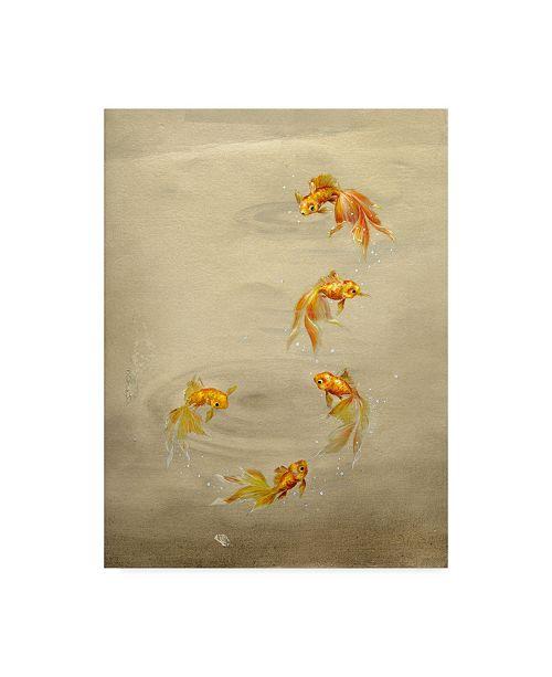 "Trademark Global Peggy Harris 'Glittering Goldfish' Canvas Art - 18"" x 24"""