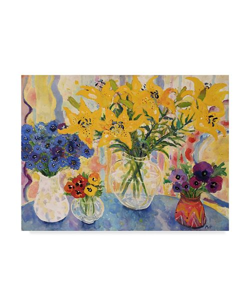 "Trademark Global Lorraine Platt 'Table Of Flowers' Canvas Art - 24"" x 18"""
