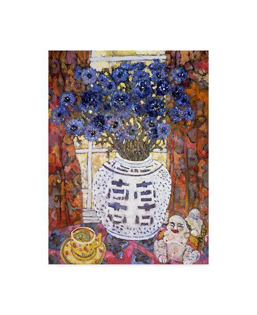 "Trademark Global Lorraine Platt 'Blue Painting Vase' Canvas Art - 24"" x 32"""