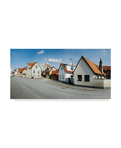 "Trademark Global Maciej Duczynski 'Sweden Neighborhood' Canvas Art - 24"" x 12"""