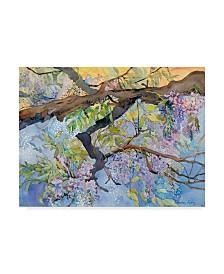 "Sharon Pitts 'Wisteria Van Vleck' Canvas Art - 19"" x 14"""
