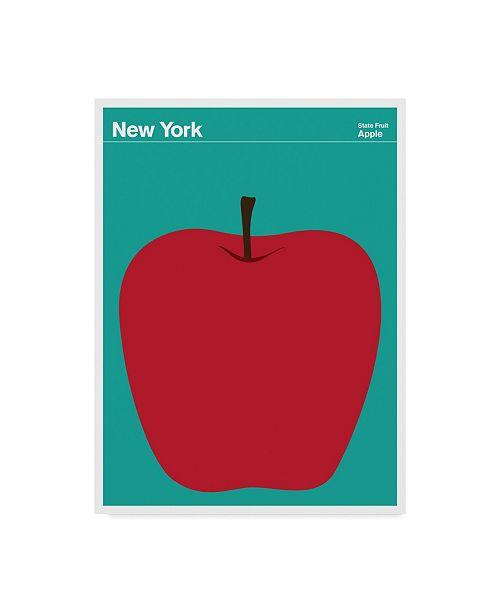 "Trademark Global Print Collection - Artist 'New York Apple' Canvas Art - 14"" x 19"""