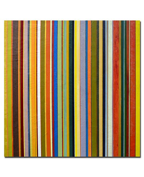 "Trademark Global Michelle Calkins 'Comfortable Stripes' Canvas Art - 18"" x 18"""