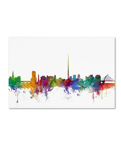 "Trademark Global Michael Tompsett 'Dublin Ireland Skyline' Canvas Art - 16"" x 24"""