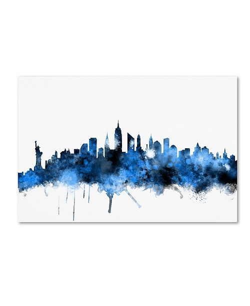 "Trademark Global Michael Tompsett 'New York Skyline II' Canvas Art - 16"" x 24"""