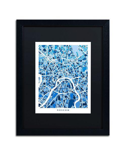 """Trademark Global Michael Tompsett 'Moscow City Street Map III' Matted Framed Art - 16"""" x 20"""""""