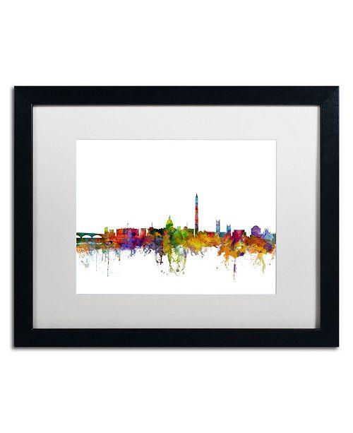 "Trademark Global Michael Tompsett 'Washington DC Skyline II' Matted Framed Art - 16"" x 20"""