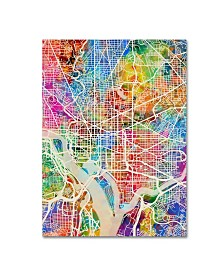 "Michael Tompsett 'Washington DC Street Map' Canvas Art - 24"" x 32"""