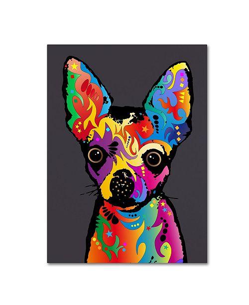 "Trademark Global Michael Tompsett 'Chihuahua Dog Grey' Canvas Art - 24"" x 32"""